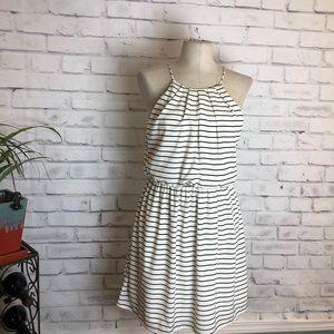 Pink Owl black & white halter top dress. Size Med